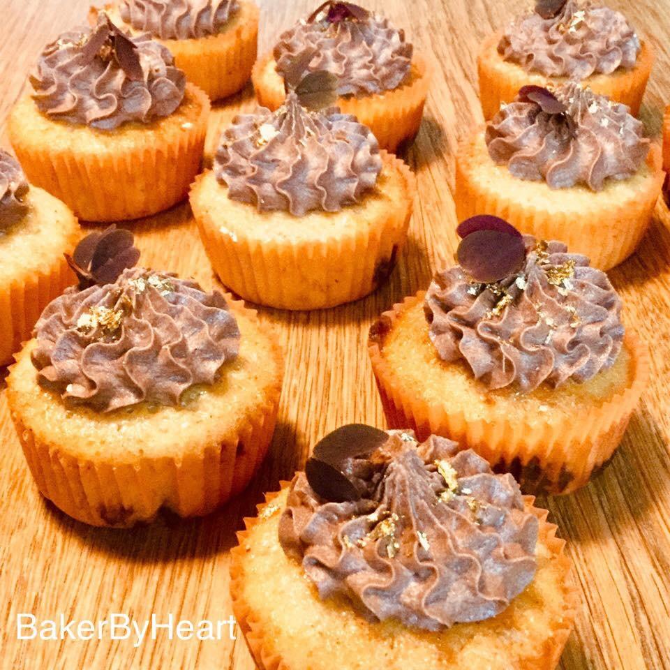Banancupcakes med chokoladefrosting