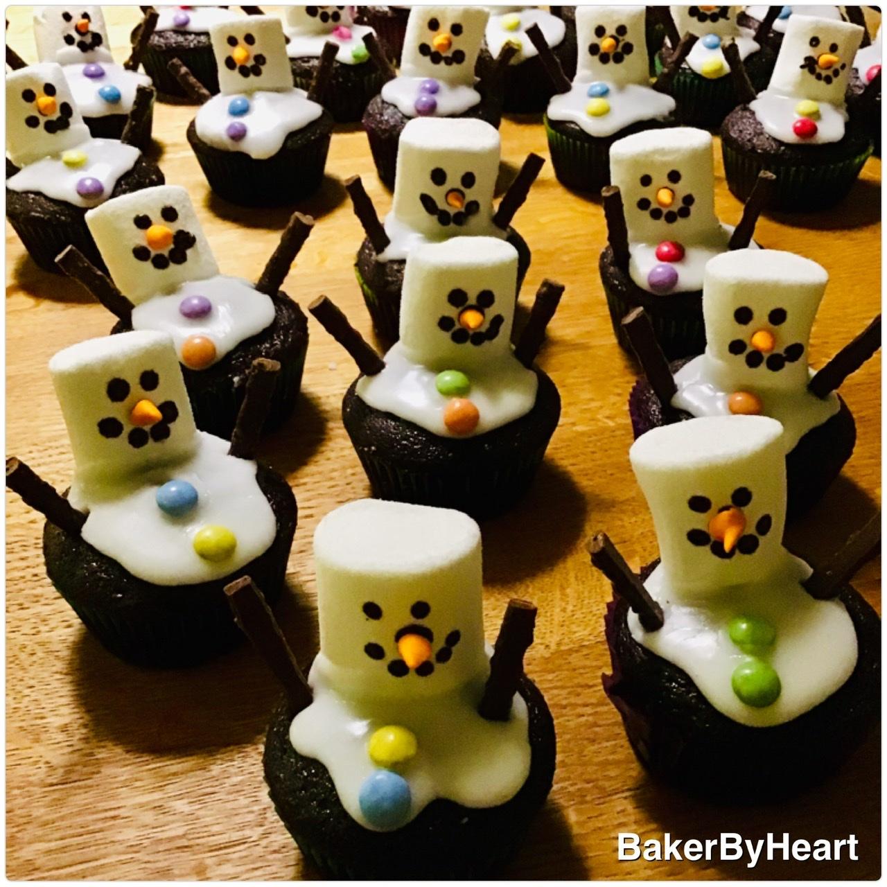 Snemandscupcakes